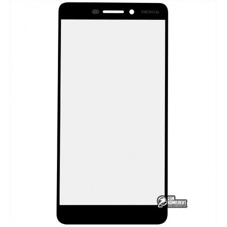 Стекло корпуса для Nokia 6.1 Dual Sim, TA-1043, черный