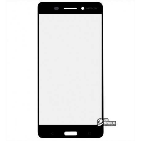 Стекло корпуса для Nokia 6 Dual Sim, TA-1021, черный