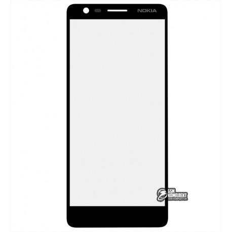 Стекло корпуса для Nokia 3.1 Dual Sim, TA-1063, черный