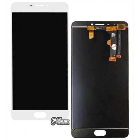 Дисплей для Meizu M3 Max, білий, з сенсорним екраном, original (PRC)
