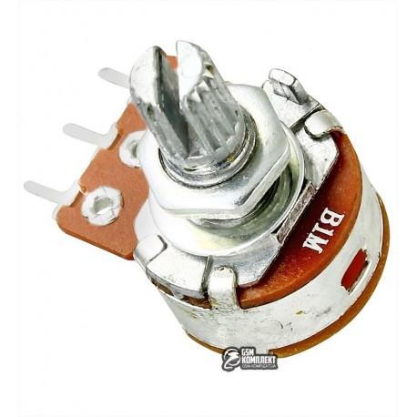 Резистор переменный 1 MOhm, с выключателем S16KN1-B 1M L-15 KC/N=6.5
