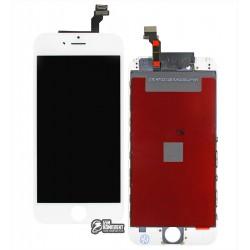 Дисплей для iPhone 6, белый, с сенсорным экраном (дисплейный модуль), с рамкой, AAA, Tianma+