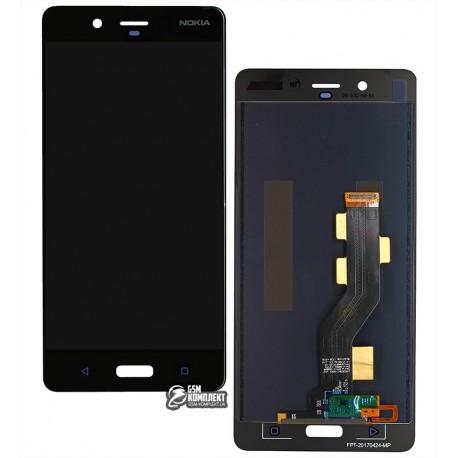 Дисплей для Nokia 8 Dual Sim, черный, с сенсорным экраном