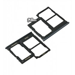Держатель SIM-карты Samsung A202F/DS Galaxy A20e, черный