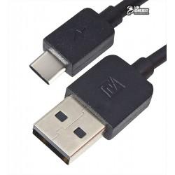 Кабель Type-C - USB, Remax Light RC-006a, 1 метр, до 1,5 Ампера, силиконовый, черный