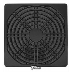 Решетка для вентилятора 120 x 120 mm, пластиковая с фильтром, черная
