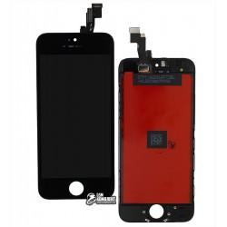 Дисплей для iPhone 5S, iPhone SE, черный, с сенсорным экраном (дисплейный модуль), с рамкой, AAA, Tianma+