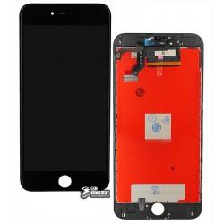 Дисплей для iPhone 6S Plus, черный, с сенсорным экраном (дисплейный модуль), с рамкой, AAA, Tianma+