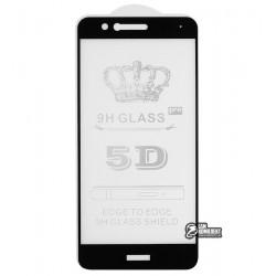 Закаленное защитное стекло для Huawei P10 Lite, 0,26 мм 9H, 2.5D, Full Glue, черное