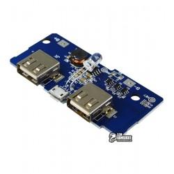 Модуль PowerBANK с LED индикатором и двумя USB выходами 5V 2.1A / 5V 1A