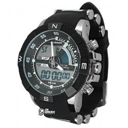 Мужские цифровые кварцевые часы Quamer 1104, ремешок каучук