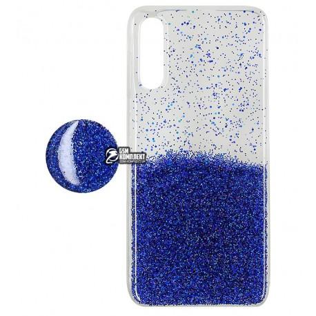 Чехол для Samsung A507 Galaxy A50s (2019), Fashion popsoket, силиконовый, голубой