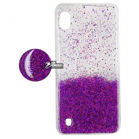 Чехол для Samsung A105 Galaxy A10 (2019), Fashion popsoket, силиконовый, violet