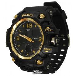 Мужские цифровые кварцевые часы Skmei 1155, черные