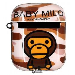 Чехол для Apple AirPods, Stickers Print Case, силикон, (baby milo)