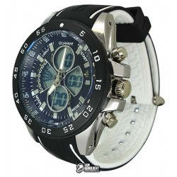 Мужские цифровые кварцевые часы Quamer 1103, ремешок каучук
