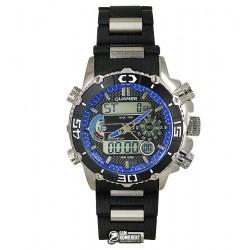 Мужские цифровые кварцевые часы Quamer 1320, карбон