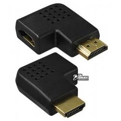 Переходник угловой горизонтальный, штекер HDMI - гнездо HDMI, левый