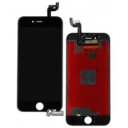 Дисплей для iPhone 6S, черный, с сенсорным экраном (дисплейный модуль), с рамкой, AAA, Tianma+