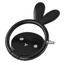 Кольцо держатель Animal Metal Desing, Black rabbit