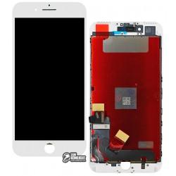 Дисплей iPhone 7 Plus, белый, с сенсорным экраном (дисплейный модуль), с рамкой, High Copy
