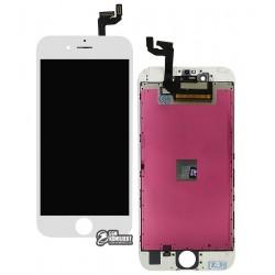 Дисплей для iPhone 6S Plus, белый, с сенсорным экраном (дисплейный модуль), с рамкой, AAA, Tianma+