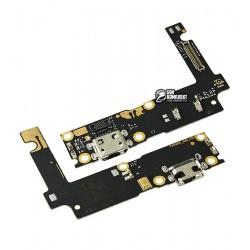 Шлейф для Lenovo Vibe P1, коннектора зарядки, с компонентами, плата зарядки