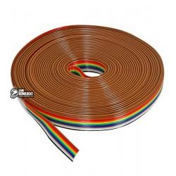 Шлейф 10-жильный 28AWG разноцветный, 5м