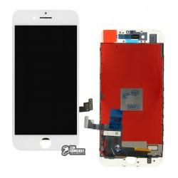 Дисплей для iPhone 7, белый, с сенсорным экраном (дисплейный модуль), с рамкой, AAA, Tianma+