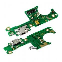 Шлейф для Nokia 3.1 Plus, микрофона, коннектора зарядки, с компонентами, плата зарядки