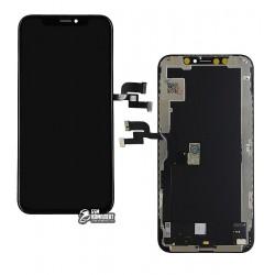 Дисплей iPhone XS, с сенсорным экраном (дисплейный модуль), с рамкой, (OLED), High Copy