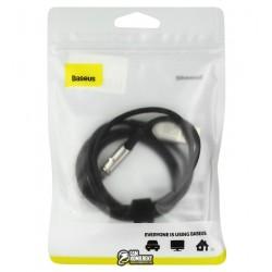 Кабель Micro-USB - USB, Baseus Zinc Magnetic, магнитный, тканевый, только зарядка, 2А, 1м, черный