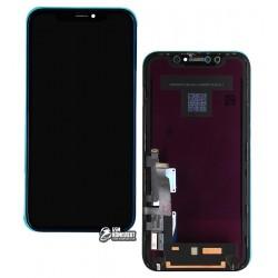 Дисплей iPhone XR, черный, с сенсорным экраном (дисплейный модуль), с рамкой, Original (PRC)