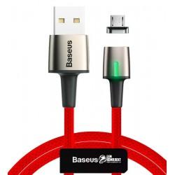 Кабель Micro-USB - USB, Baseus Zinc Magnetic, магнитный, в тканевой оплетке, 2А, 1м