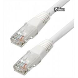 Патч-корд литой 0,25м Cablexpert PP12-0.25M/W, белый