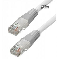 """Патч-корд литой 20м Cablexpert PP12-20M/BK UTP, категория. 5E, 50u """"штекер с защелкой, белый"""