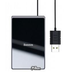 Беспроводная зарядка Baseus Card Ultra-Thin 15Вт (с USB кабелем, 1м), черная