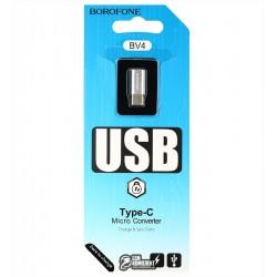 Переходник с Micro-USB на Type-C , Borofone BV4