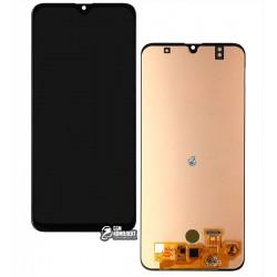 Дисплей для Samsung A307 Galaxy A30s, черный, с сенсорным экраном, (OLED), High Copy