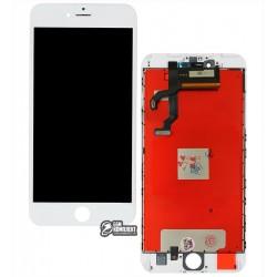 Дисплей iPhone 6S Plus, белый, с сенсорным экраном, с рамкой, AAA, Tianma, с пластиками камеры и датчика приближения