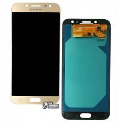 Дисплей для Samsung J730 Galaxy J7 (2017), золотистый, с сенсорным экраном, с регулировкой яркости, (TFT), Сopy