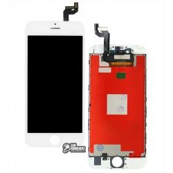 Дисплей для iPhone 6S, белый, с сенсорным экраном (дисплейный модуль), с рамкой, AAA, Tianma+