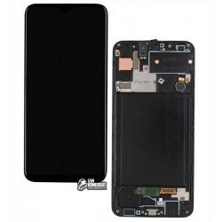 Дисплей для Samsung A307 Galaxy A30s, черный, с сенсорным экраном, с рамкой, Original (PRC), original glass