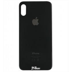 Задняя панель корпуса для iPhone X, черная, не нужно снимать стекло камеры, big hole