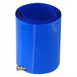 Термоусадочная лента для аккумуляторов синяя, ширина 65мм, 1м, диаметр 40мм