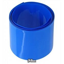 Термоусадочная лента для аккумуляторов синяя, ширина 30мм, 1м, диаметр 19мм