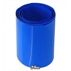 Термоусадочная лента для аккумуляторов синяя, ширина 56мм, 1м, диаметр 35мм