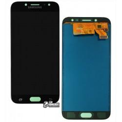 Дисплей для Samsung J730 Galaxy J7 (2017), черный, с сенсорным экраном, с регулировкой яркости, (TFT), Сopy