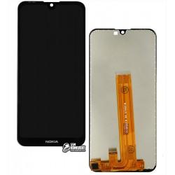 Дисплей для Nokia 2.2 Dual Sim, черный, с сенсорным экраном (дисплейный модуль), Original (PRC)