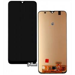 Дисплей для Samsung A305 Galaxy A30, черный, с сенсорным экраном, (OLED), High Copy